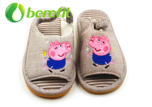 Kids Sandals Girls Suit for Autume And Winter with Warm Cotton Material for Indoor Bedroom