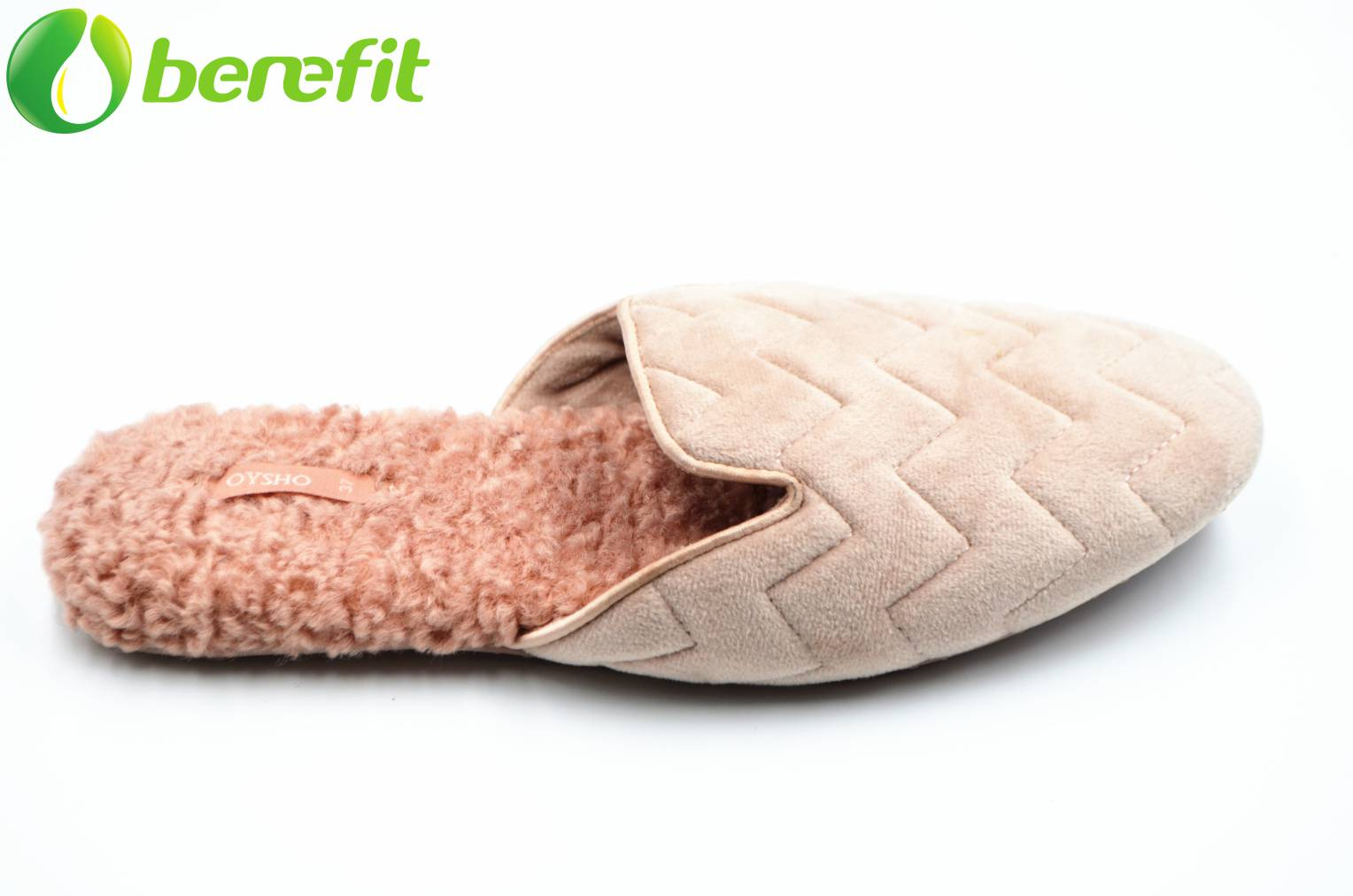 Salmon Pink Women's Fur Indoor Slipper with Terry Insole