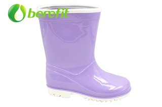 Rain Boots Women with Ankle High Boots with PVC Material