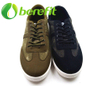 Espadrille Men in Jean And Canvas Upper And PVC Injected Sole of Green Sports Shoes