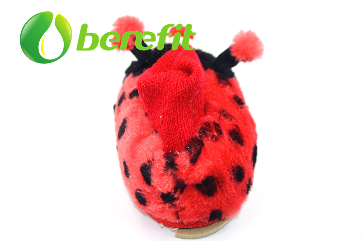 Girl Cute Toy Snow Indoor Boots with Beautiful Ladybird Design