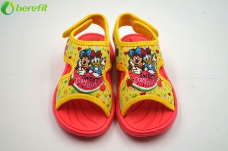 Children Yellow Disney Mickey Mouse Toddler Boy's Sandals Shoes