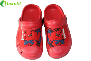 Kids Spider Man Patch EVA Hole closed toe Clog