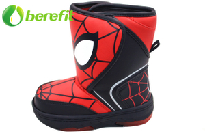 Kids Spiderrman Snow Boots with light