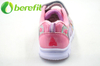 Kids Shoes Girls Style with Princess Design The Pink PU Upper with Size 24-29#