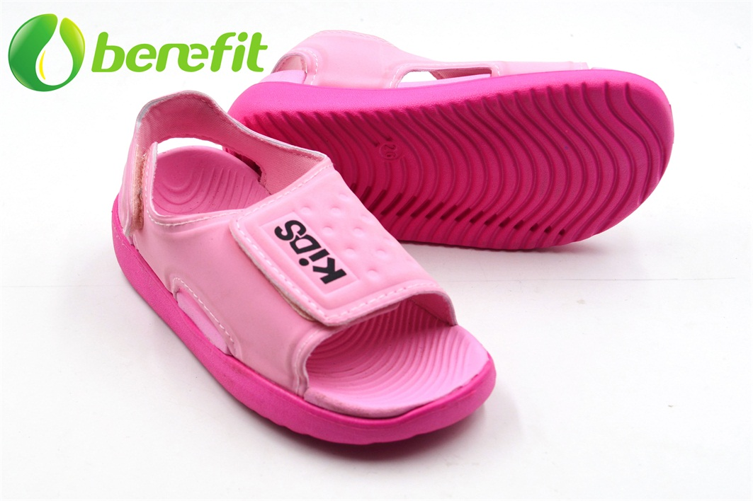 Sandals with Platform for Kids with Elastic Upper And EVA Sole of Pink Color