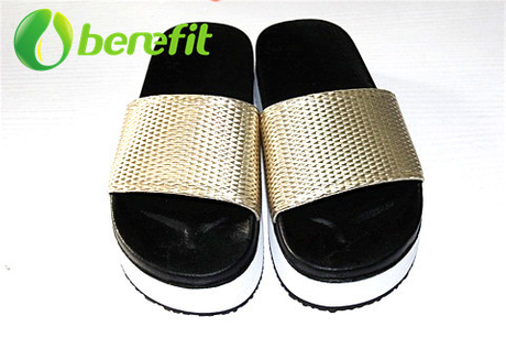 Slippers Ladies And Slippers Women for High Sole And Snakeskin Metal PU Upper