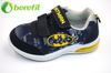 Batman Black Kids Shoes Boy with Lights And Vecro Strap