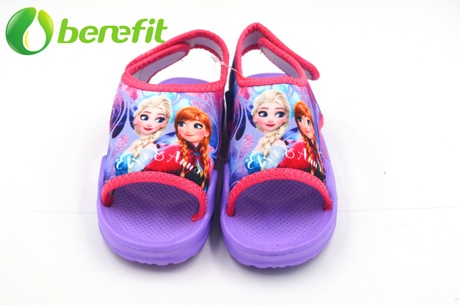 Frozen EVA Little Kids Big Printed Fabric Upper Sandals