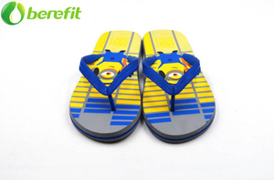 Summer Mens Minions Cartoon Printed Flip Flops